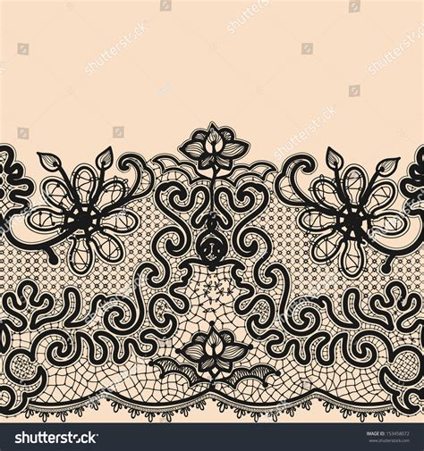 seamless pattern template abstract lace ribbon seamless pattern template stock