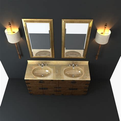 Restoration Hardware Bathroom Furniture Restoration Hardware Bathroom Furniture Set 3d Model Max Obj Fbx Mtl Cgtrader