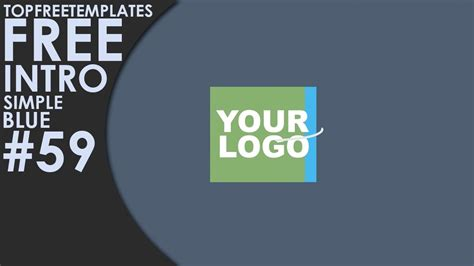 Free After Effects Intro Simple Blue 59 Youtube Top Free Templates