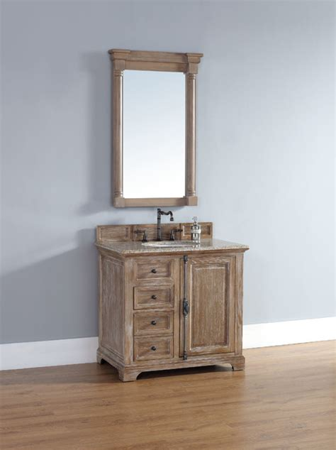36 inch providence driftwood grey single sink vanity