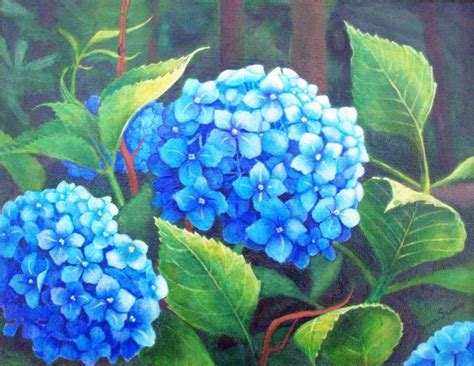 acrylic painting hydrangea 25 best ideas about hydrangea painting on