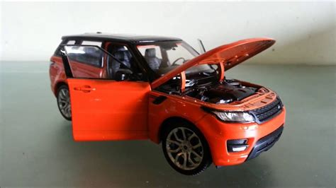 orange range rover sport welly land rover range rover sport 1 24 orange unboxing