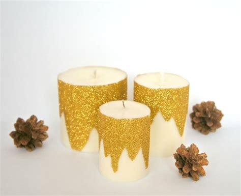 Are Gold Candles Made Of Soy by Gold Glitter Soy Wax Candle Decoration By Milicrafts