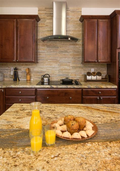 yellow kitchen backsplash ideas yellow river granite and backsplash idea decor