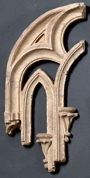 tracery fragment  architectural pieces home