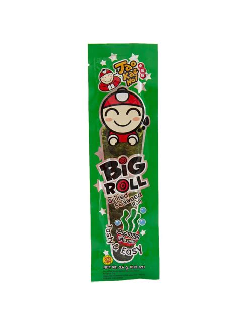 Big Roll Tao Kae Noi Spicy Grilled Squid Flavour 36gram tao kae noi big roll grilled seaweed roll classic pck 3 6g