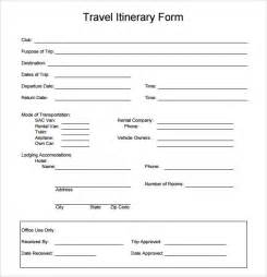 travel itinerary template 7 download documents in pdf word