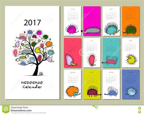 funny bees calendar 2017 design stock vector image 81720022 funny hedgehogs calendar 2017 design stock vector