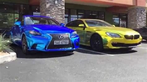 lexus wrapped blue chrome lexus is 250f sport wrap by t wrap in az