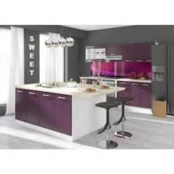 ultra ilot de cuisine 2 m coloris aubergine achat