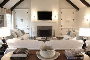 Gray And White Striped Bedding U Shaped Furniture Arrangement Transitional Living