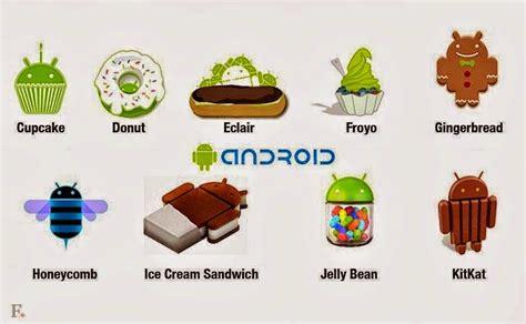 daftar nama os android menurut versi  jenis kelebihan