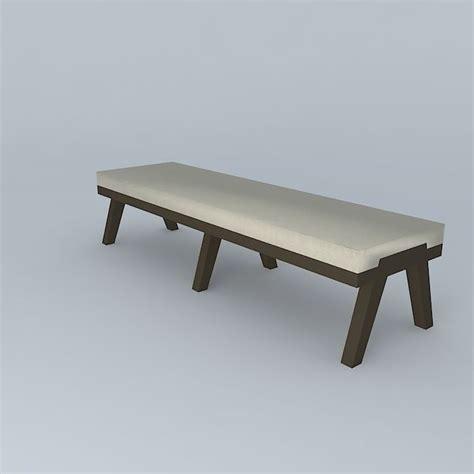 holly hunt bench bench holly hunt 3d model max obj 3ds fbx stl dae