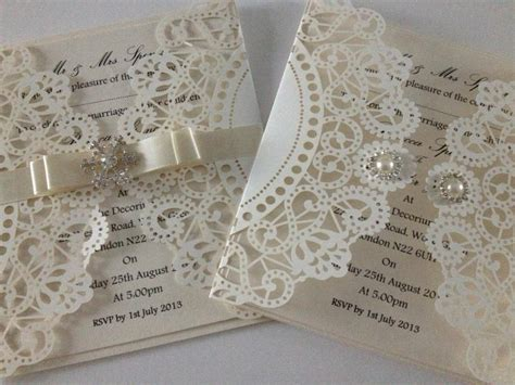 Wedding Invitations Laser Cut by Couture Laser Cut Wedding Invitation Wedding Stationery