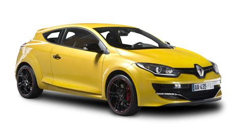 yellow car renault megane rs yellow car png image pngpix