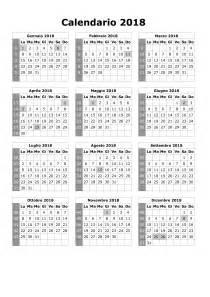 Calendario 2018 Giorni Festivi Calendario 2018
