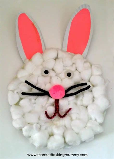 Easter Bunny Paper Plate Craft - easy easter crafts that can do fabulessly frugal