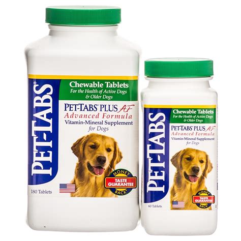 vitamins for dogs pet tabs pet tabs plus af advanced formula vitamin mineral supplement for dogs