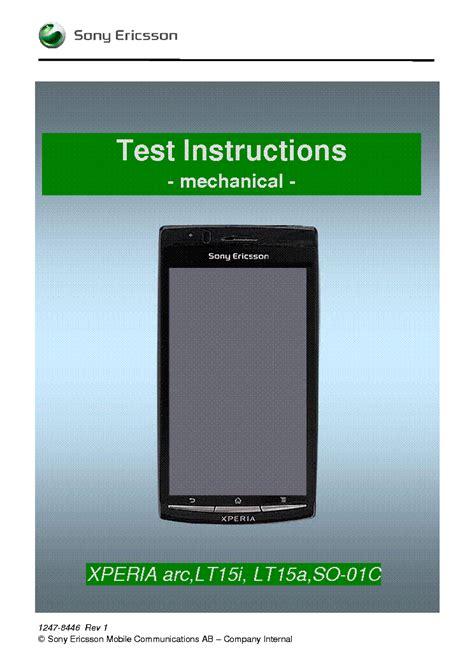 Sonyericsson Txt Ck13i Working Instructions Mechanical