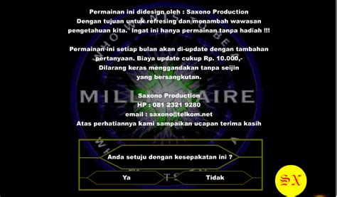 membuat game who wants to be a millionaire seputar dunia seni januari 2013