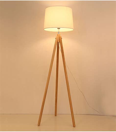 industrial tripod floor l industrial wood tripod floor l base by quirk lights
