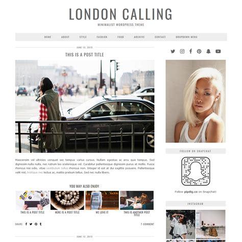 wp themes london london calling a grey modern minimal wordpress theme