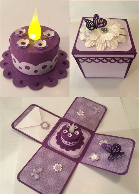 Tea Light Cake In An Exploding Box For Friends