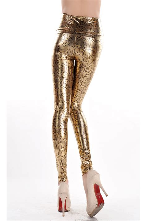 Code Snake Gold Legging snakeskin metallic gold