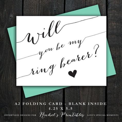 Ring Bearer Card Template by Will You Be My Ring Bearer Card Printable Quot Will You Be My