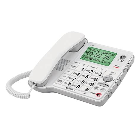 at t 174 corded big button phone with digital answering