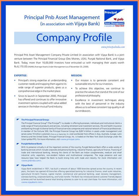 Template Company Profile Sle Company Description Template