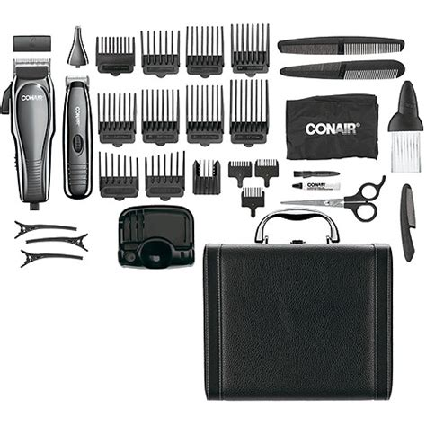 conair haircuts at home conair 32 piece deluxe haircut kit with cordless trimmer
