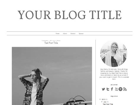 layout fashion blog blogger premade template design fashion note web