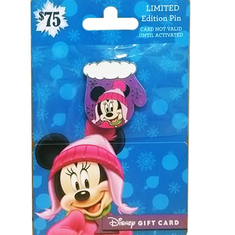 Disney Store Gift Cards - your wdw store disney gift card pin happy holidays 2016 christmas mittens minnie