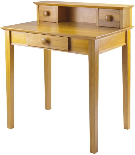 Writing Desk With Hutch Studio Honey Writing Desk With Hutch 99333 Winsome