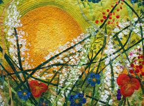 silk painted quilt everything the sun barbara