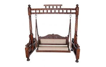jhula swing carved indian swing jhula dark brown sheesham indian