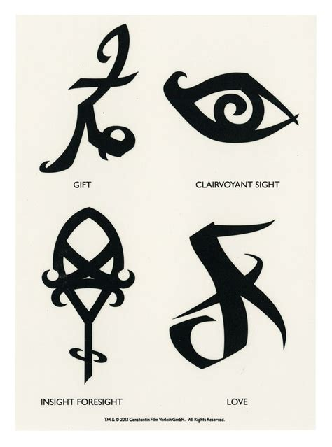shadowhunters tattoo runes temporary tattoos shadowhunter