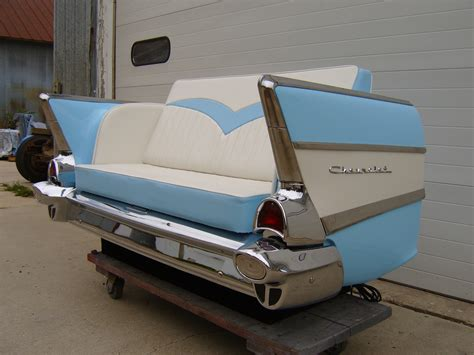 57 chevy sofa 1957 chevy bel air car couch back end images frompo
