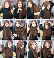 cara memakai jilbab segi empat sederhana agar cantik alami