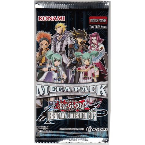 Yugioh Card Pack 9 Card yu gi oh legendary collection 5d s mega pack booster pack