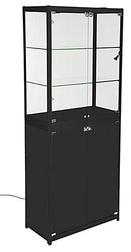 Wheels Display Cabinet by Mobile Display Cabinet Glass Tradeshow Stand With