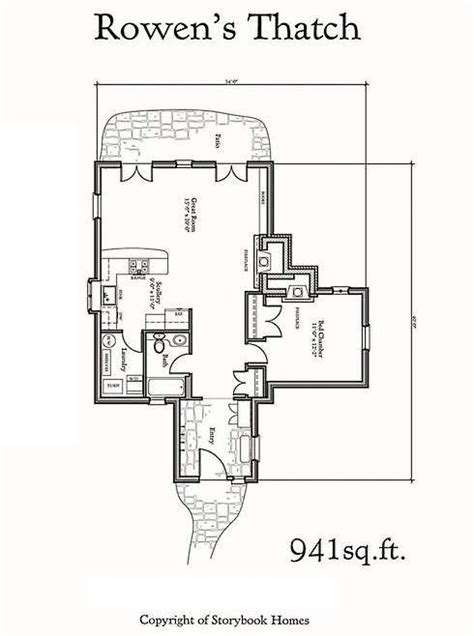 storybook cottage plans tiny storybook cottage floor plans pinterest