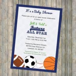 baby boy shower invitations all invite sports themed