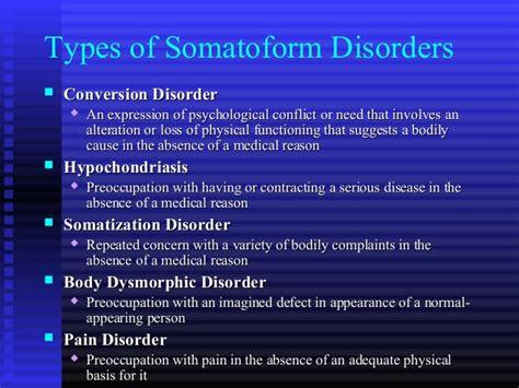 Somatoform Disorder Study somatoform disorder study