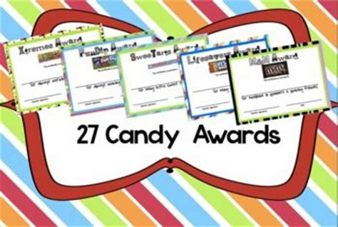 candy award certificates end of the year editable and