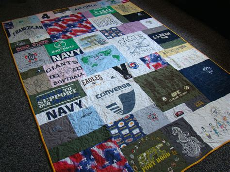 Handmade T Shirt Quilts - custom t shirt memory quilt no money