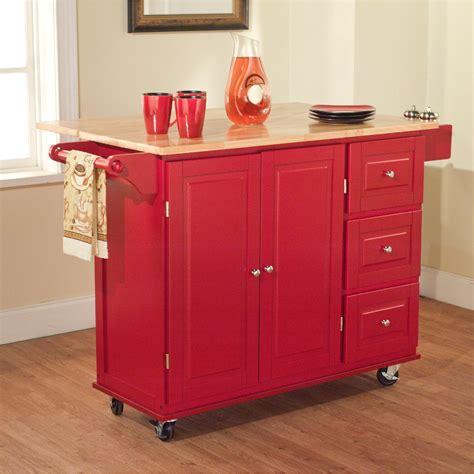 drawer kitchen cart large madison island wood black natural home styles target
