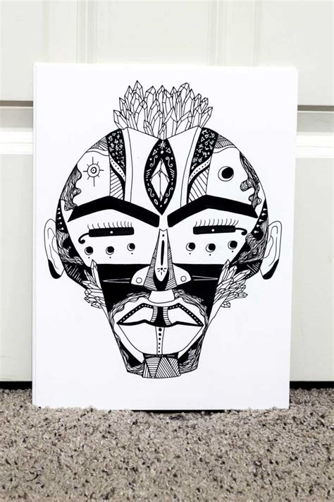 Mask Drawing For mask drawings the most beautiful tribal