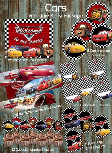 printable cars party decorations 32 best disney cars 3 birthday party ideas disney cars 3